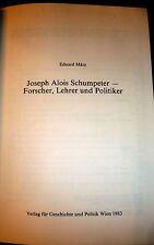 Schumpeter by Eduard März. Austrian Economics, German  Inscribd to Carl Schorske