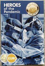 2 euros Malte 2021 - Héros de la pandémie BU FDC Coincard poinçon MdP 60.000