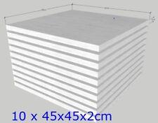 Schaumstoff Platten 10 Stk 45x45x2cm Sitzpolster Sitzkissen Polsterauflage fest