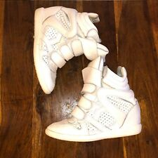 ISABEL MARANT Beckett Wedge Sneakers White (SIZE 39)