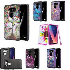 Lg V30 Slim Hybrid Hard Case Shockproof Phone Cover Cell Phone Case Accessory