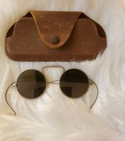 Early 1900's Antique Vintage Round Sunglasses Metal Wire Frame