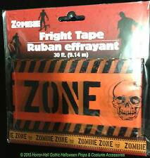 Walking Dead Warning-ZOMBIE ZONE-Fright Caution Tape Halloween Party Prop Decor
