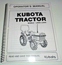 Kubota L2600 L3000 Tractor Operators Owners Maintenance Manual OEM 11/02