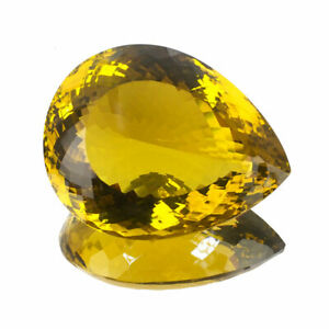 VVS 142 Cts Certified Natural Citrine AAA Top Quality Green Gold Huge Gemstone