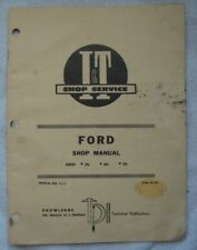 Ford Ferguson Tractor Shop Service Manual I & T Series 2N 8N 9N Fo-4 39 Pages