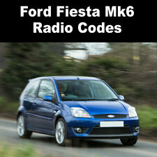 Ford Fiesta Mk6 Radio Code Stereo Codes Pin Car Unlock Fast Service 6000cd