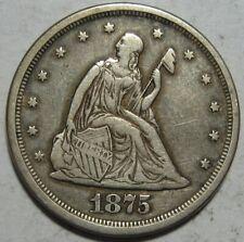 = 1875-S VF/XF TWENTY Cent PIECE, Nice EYE Appeal, FREE SHIPPING