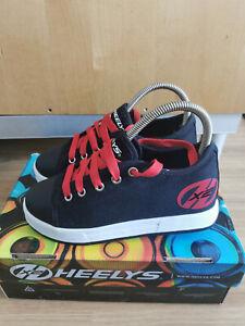 Heelys X2 Sneaker mit 2 Rollen Gr. 34 schwarz rot