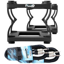 Fluid DS5 Table Stands for Monitor-Boxen + 2 Piece Jack Cable