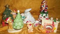 Set of 7 Christmas Bear Candle Holders
