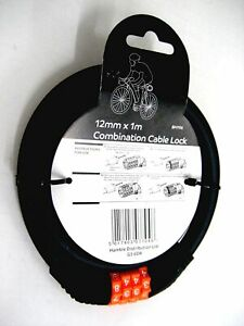 Bike Lock Combination Lock Heavy Duty Cycle Lock Various Sizes and Brands Black