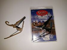 Kyser Black KG6B Gold Powell Quick Change 6-String Guitar Capo Lot of 2 NEW/USED