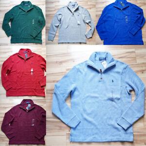 Men Polo Ralph Lauren Half-Zip Pullover Sweater Sweatshirt - Size S M L XL XXL