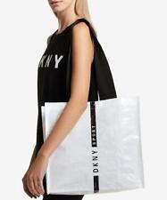DKNY Womens White Sport Gym Workout Tote Handbag Bags $50 TINI {&}