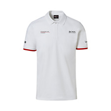 Porsche Driver's Selection Men's Polo Hugo Boss (White)- Motorsport Collection