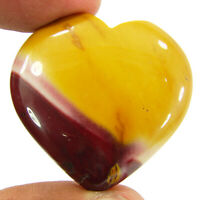 80.55 Ct Natural Mookaite Jasper Loose Gemstone Heart Cabochon Wire Wrap - 43033