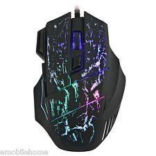 7 Buttons USB Wired Gaming Mouse Adjustable 1000/1600/2400/3200 DPI LED Light