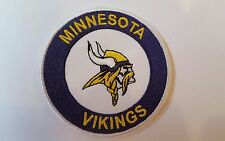 "Minnesota Vikings  vintage Embroidered Iron on  Patch   3"" x 3"" Nice Quality"