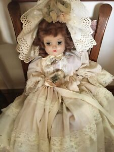 """Antique Horsman doll 19"""" composition legs and arms cloth body. Sleep eyes"""