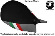 ITALIAN FLAG BLACK & GREY VINYL CUSTOM FOR DUCATI 1199 PANIGALE FRONT SEAT COVER