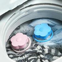 HN- Flower Washing Machine Hair Removal Laundry Ball Floating Filter Mesh Bag Ca