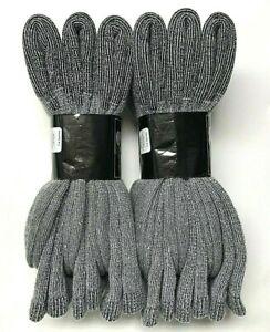 6 Pair Men's Acrylic & Merino Wool Work / Hiking Gray Boot Sock SZ 10-13.USA.