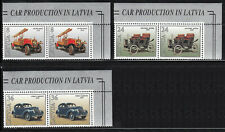 MNH Latvia stamps - Old Cars 1996, Edge pair, Mi.Nr. 435 - 437.