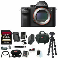 Sony Alpha a7RII Mirrorless Digital Camera Body w/ 64GB SD Card + SLR Acc Bundle