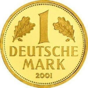 Deutschland - 1 DM 2001 - Goldmark - A - Berlin - 12 gr Gold ST