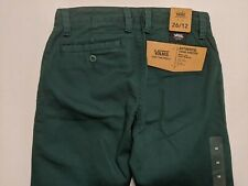 Vans New Authentic Chino Stretch Medium Rise Youth Boy's Pants Size 26/12
