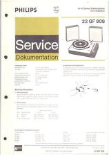 Philips Original Service Manual für  Phono 22 GF 808