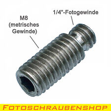 "Gewindeadapter 1/4""- M8 (Adapter metrisch – zoll, Fotogewinde, Zollschraube, UNC"