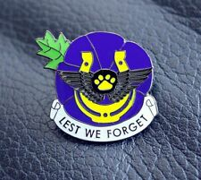 PURPLE NEW POPPY PIN BADGE ANIMALS IN WAR 2020 REMEMBRANCE DAY