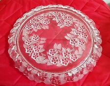 MIKASA WALTHER CRYSTAL CAKE PLATE MADE IN WEST GERMANY