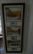 Framed Atlantic Salmon Flies: Ogden M. Pleissner Art Paintings w/Flies