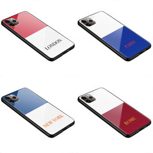 World Capitals   L61   tempered glass silicone phone case