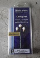 HO Scale Miniatronics SGreen Triple Park Light Lampposts NIP 72-084-01