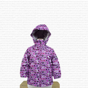 Ride Snowboarding Rug Rats Ace Insulated Snowboard Jacket Girls 4T Hearts Print