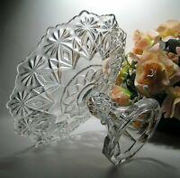 "Antique US GLASS Co CAKE STAND ""SHOSHONE"" or Blazing Pinwheels #15046 EAPG c1896"