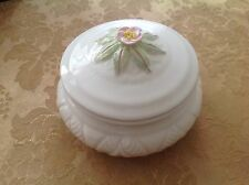 Trinket box floral white