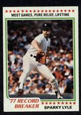 1978 Topps #2 Sparky Lyle NM-MT Yankees RB