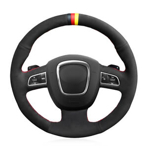 Custom Suede Steering Wheel Cover for Audi A3 A4 A5 A8 Q7 S4 S5 S6 S8 Seat Exco