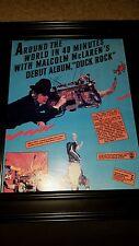 Malcom McLaren Duck Rock Rare Original Promo Poster Ad Framed!