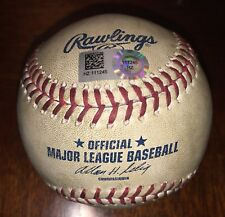 Max Scherzer Washington Nationals 1st Career Shutout Game Used Baseball 6/12/14