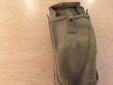 ammo pouch, 1950's,swiss, canvas , gray, new old stock