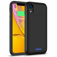 For iPhone XR Phone Ultre Slim Power Bank Battery Charger Case Cover 5500mAh