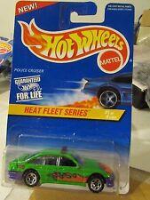 Hot Wheels Police Cruiser Heat Fleet Series Green