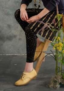 BNWT *Gudrun Sjoden* Confetti pink polka dot recycled fibre footless tights XL