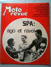 MOTO REVUE N°1989; SPA; Ago et Ravel / Gp de Belgique / 24 h de Montjuich/ Side
